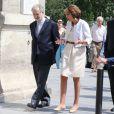 Jacques Attali, Marisol Touraine et son père Alain Touraine - Arrivées au mariage de Pierre Moscovici et Anne-Michelle Bastéri à la mairie du VIème arrondissement à Paris. Le 13 juin 2015