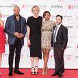 Monika Bacardi, Terrence Howard, la princesse Charlene de Monaco, Taraji P. Henson et Danny Strong lors de la soirée d'ouverture du 55e Festival international de télévision de Monte-Carlo, le 13 juin 2015 au Grimaldi Forum.