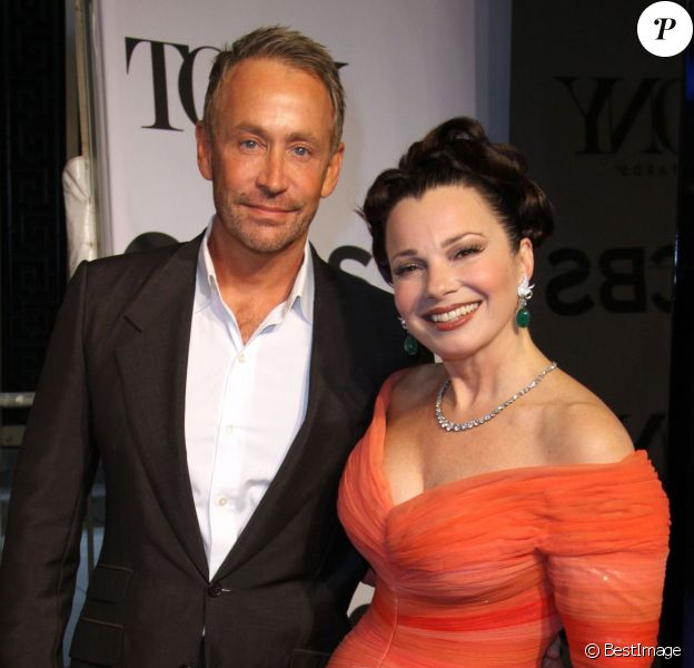 """Fran Drescher et son ex-mari Peter Marc Jacobson - 68e cérémonie des """"Tony Awards"""" à New York, le 8 juin 2014."""