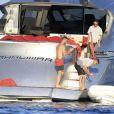 Mario Götze, en vacances avec sa sublime compagne Ann-Kathrin Brömmel à Ibiza le 5 juin 2015