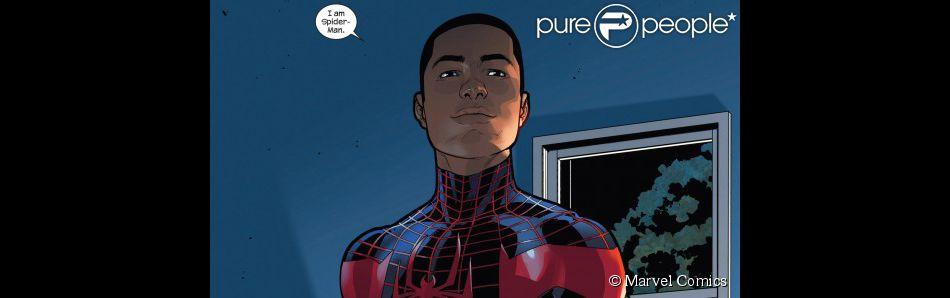 Miles Morales, alter ego de Peter Parker et nouveau Spider-Man.