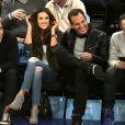 Alessandra Ambrosio rencontre Will Arnett (acteur Les Tortues Ninja 2) lors d'un match de basket à New York, le 25 mars 2015