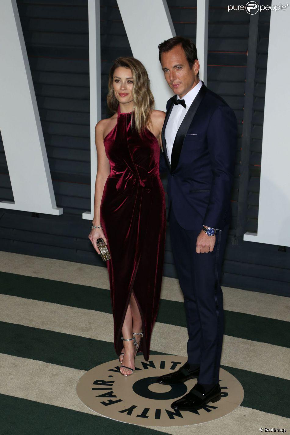 Arielle Vanderberg, Will Arnett - People à la 87ème cérémonie des Oscars à Hollywood, le 22 février 2015.