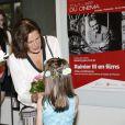 """La princesse Stéphanie de Monaco - Représentation en avant-première du documentaire """"Rainier III en films"""" au théâtre des Variétés à Monaco le 22 juin 2015."""