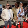 Jason Statham, Tyrese Gibson et sa fille Shayla - Inauguration du Fast & Furious Supercharged Ride aux Studios Universal à Los Angeles le 23 juin 2015.