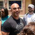 Vin Diesel - Inauguration du Fast & Furious Supercharged Ride aux Studios Universal à Los Angeles le 23 juin 2015.