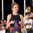 Charlotte Casiraghi lors de la remise des médailles aux cavaliers du Jumping de Monte-Carlo lors de la soirée de clôture à Monaco le 27 juin 2015