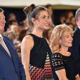 Charlotte Casiraghi et Diane Fissore (présidente de la fédération équestre de la Principauté et organisatrice du Jumping) lors de la soirée de clôture du Jumping de Monte-Carlo, à Monaco le 27 juin 2015