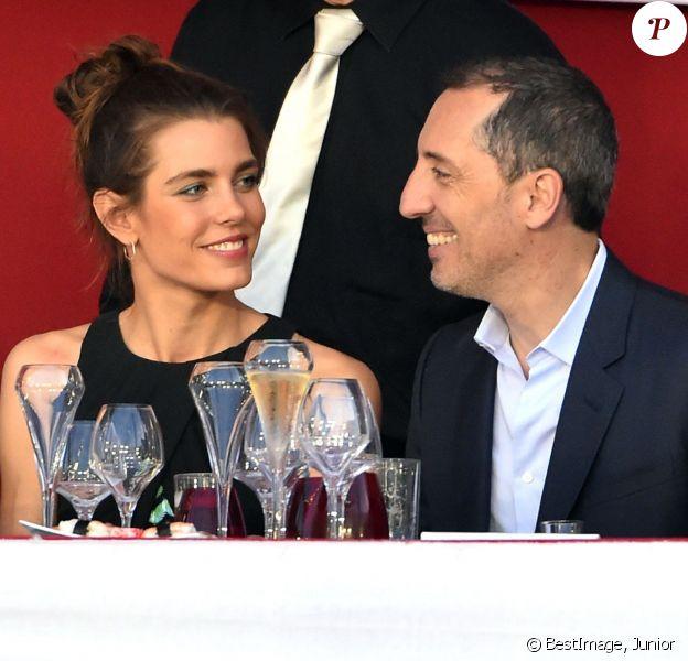Charlotte Casiraghi et Gad Elmaleh lors de la soirée de clôture du Jumping de Monte-Carlo, à Monaco le 27 juin 2015