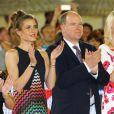 Charlotte Casiraghi et le prince Albert II de Monaco lors de la soirée de clôture du Jumping de Monte-Carlo, à Monaco le 27 juin 2015