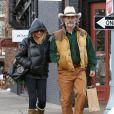Kurt Russell et sa femme Goldie Hawn font du shopping à Aspen, le 18 décembre 2014.
