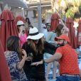 Nicole Scherzinger, sexy et déchaînée à la veille de son anniversaire, profite d'un après-midi ensoleillé sur l'île de Mykonos. Le 28 juin 2015.