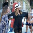 Nicole Scherzinger fête ses 37 ans au cours d'un week-end entre filles sur l'île de Mykonos. Le 28 juin 2015.