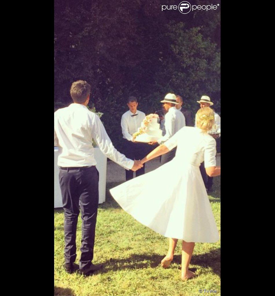 Agathe Lecaron s'est mariée avec François Pellissier - Twitter, juin 2015