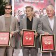 Brad Pitt, George Clooney, Jerry Weinstraub et Matt Damon à Hollywood le 5 juin 2007.