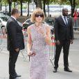 Anna Wintour arrive au Grand Palais pour le défilé Chanel (collection haute couture automne-hiver 2015-2016). Paris, le 7 juillet 2015.