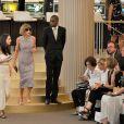 Anna Wintour assiste au défilé Chanel (collection haute couture automne-hiver 2015-2016) au Grand Palais. Paris, le 7 juillet 2015.