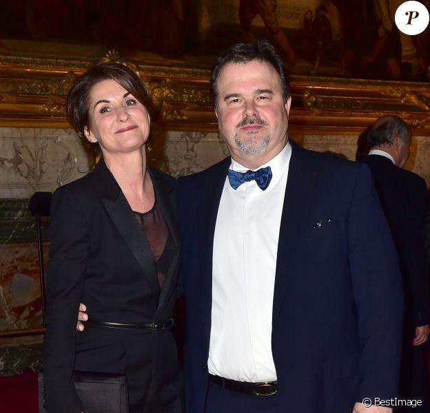 Pierre Hermé et sa compagne Valérie Franceschi - Dîner Goût de / Good France pour célébrer la gastronomie française au Château de Versailles le 19 mars 2015.