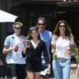 Exclusif - Cindy Crawford avec son mari Rande Gerber, ses enfants kids, Presley et Kaia  à Malibu le 21 juin 2015.