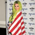 Kesha fête le Jour de l'Indépendance des Etats-Unis au «Rehab Pool» à Las Vegas, le 5 juillet 2015