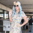 Kesha prend un vol à l'aéroport de Los Angeles, le 22 juillet 2014.