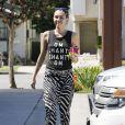 Exclusif - Miley Cyrus est allée déjeuner avec sa mère Tish Cyrus à Studio City, le 10 juillet 2015
