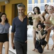 François Vincentelli sous le charme de sa belle Alice Dufour en bikini doré