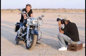 REPORTAGE PHOTOS EXCLUSIVES : Découvrez le making of du prochain album de Johnny Hallyday, dans le désert !