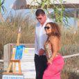 Mariah Carey et son compagnon James Packer en vacances à Formentera en Espagne le 1er juillet 2015.