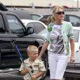 Sharon Stone avec son fils adoptif Roan