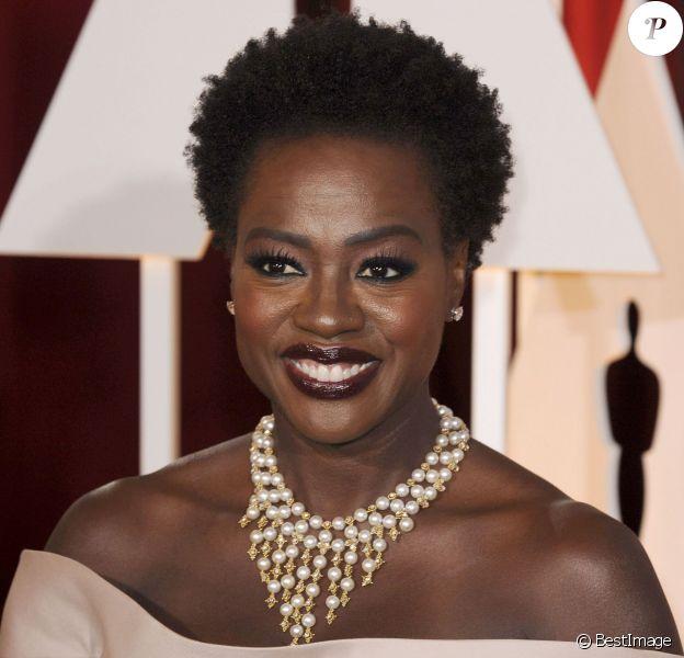 Viola Davis - People à la 87ème cérémonie des Oscars à Hollywood, le 22 février 2015.
