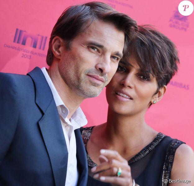 Olivier Martinez et Halle Berry enceinte à Paris le 13 juin 2013.