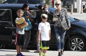 Gwen Stefani en plein divorce : 1re sortie, sans alliance mais avec les enfants