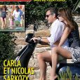 Carla et Nicolas Sarkozy, deux amoureux en vacances. Découvrez la couverture du numéro 3401 de Paris Match, en kiosques le 24 juillet 2014.