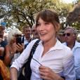 Carla Bruni-Sarkozy au jardin Albert 1er à Nice le 19 juillet 2015