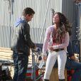 Shia LaBeouf avec Megan Fox sur le tournage de Transformers 2