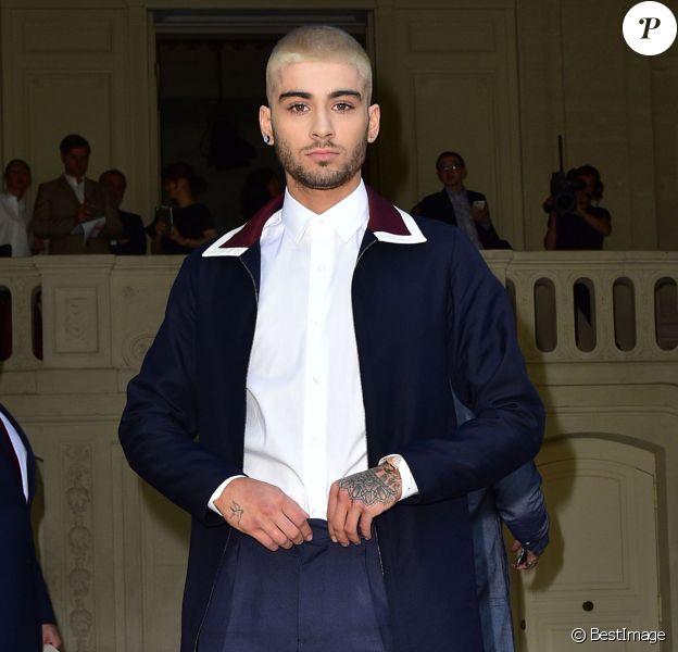 Zayn Malik - People au défilé de mode masculine Valentino PAP Printemps / été 2016 à l'Hôtel Salomon de Rothschild le 24 juin 2015 à Paris.