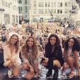 Les Little Mix en concert à New York / photo postée sur le compte Instagram du groupe.