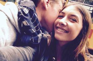 Léonard Trierweiler : Tendre moment et chaste baiser avec sa chérie