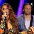 La popstar Shy'm en mode combinaison cannabis pour la Fête de la musique 2015, le 20 juin sur France 2.