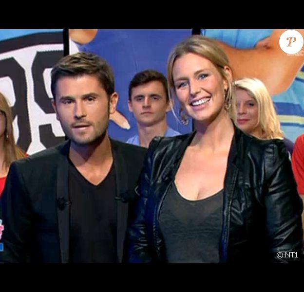 """Aurélie Van Daelen, enceinte, s'affiche dans la quotidienne de """"Secret Story 9"""", mardi 25 août 2015."""