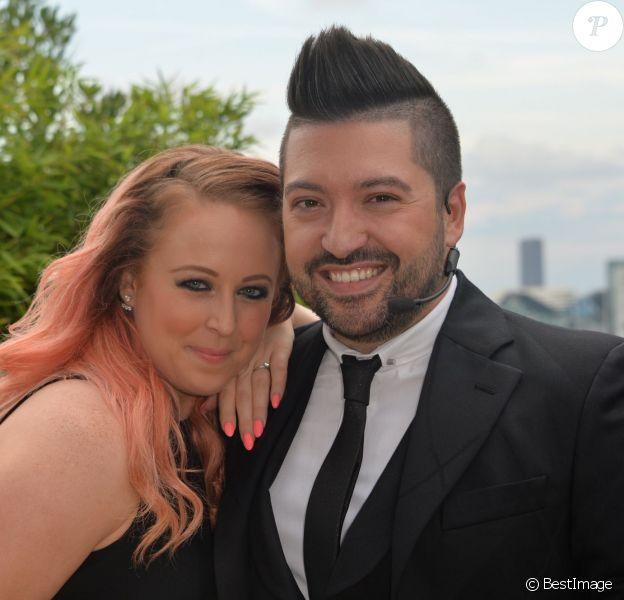 Exclusif - Chris Marques et sa fiancée Jaclyn Spencer à l'occasion du lancement d'une nouvelle plateforme digitale sur MyTF1, Xtra, sur laquelle une chaîne co-produite avec le danseur sera disponible, à Boulogne, le 31 août 2015