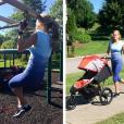 Carrie Underwood en pleine séance de sport / photo postée sur le compte Instagram de la chanteuse au mois d'août 2015.