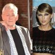 Photomontage d'Ian McKellen (Londres, 10 juin 2015) et Taylor Swift (30 août 2015 aux MTV VMA Awards)