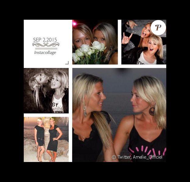 Amélie Neten rend hommage à sa soeur atteinte d'un cancer. Le 3 septembre 2015.