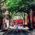 Pauline Ducruet au Minetta Triangle, à Manhattan. Elle est de retour à New York pour de bon, en septembre 2015 !