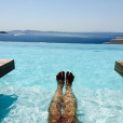 Pauline Ducruet, image de ses vacances à Mykonos en août 2015. La fille de la princesse Stéphanie de Monaco est de retour à New York pour de bon, en septembre 2015 !