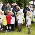 Le prince Daniel de Suède organisait le 6 septembre 2015 sa Journée annuelle du Sport dans le parc du palais Haga, résidence du couple princier à Stockholm