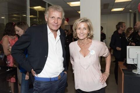Claire Chazal: Radieuse au côté de Patrick Poivre d'Arvor et Marc-Olivier Fogiel