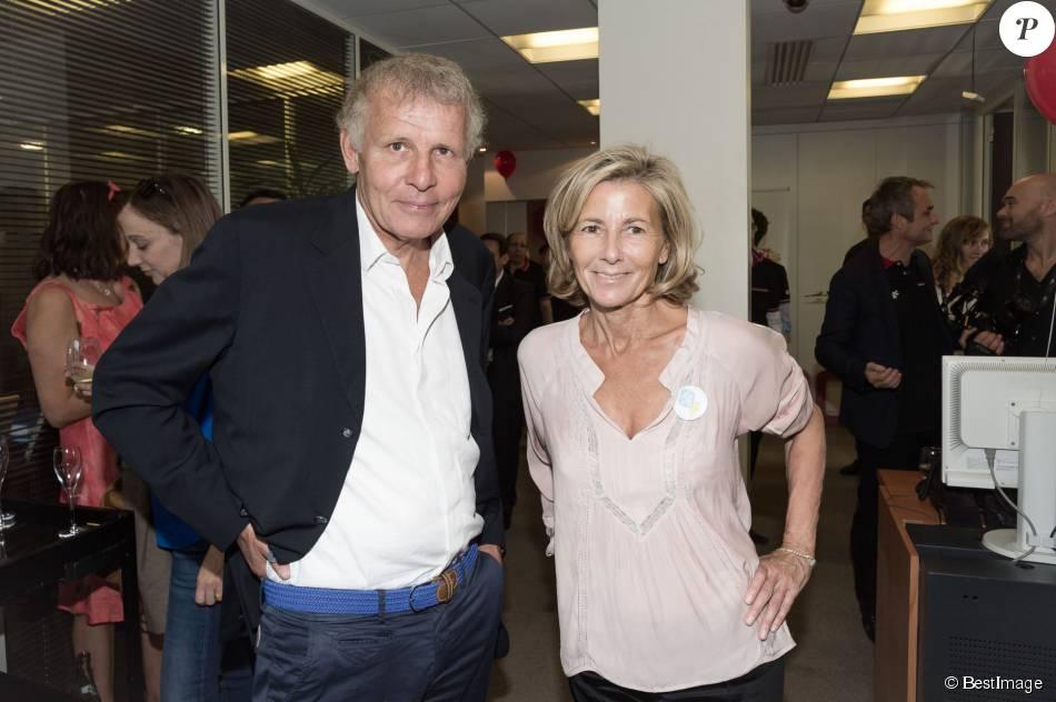 """Patrick Poivre d'Arvor et Claire Chazal, à la 11e édition du """"BGC Charity Day"""" à Paris le 11 septembre 2015."""
